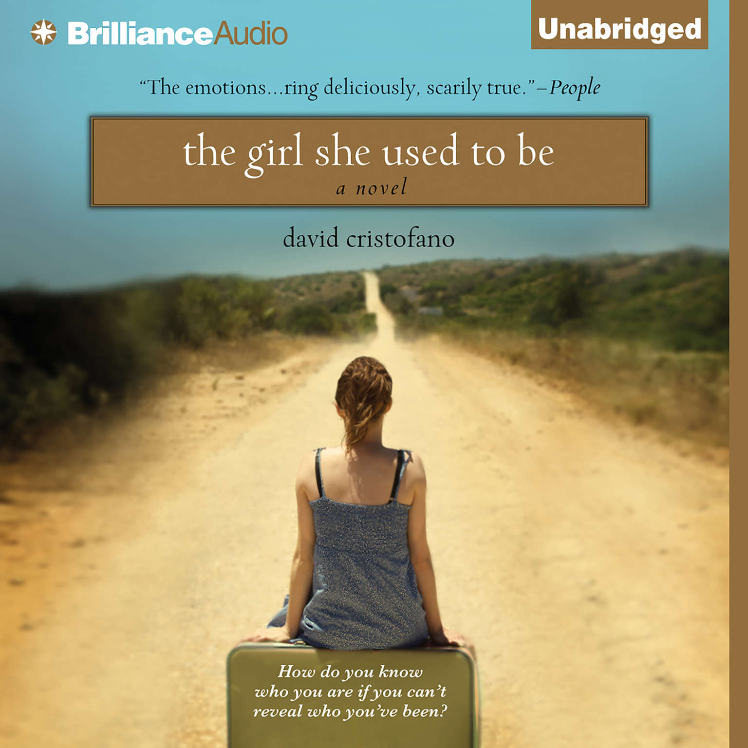 Printable The Girl She Used to Be Audiobook Cover Art