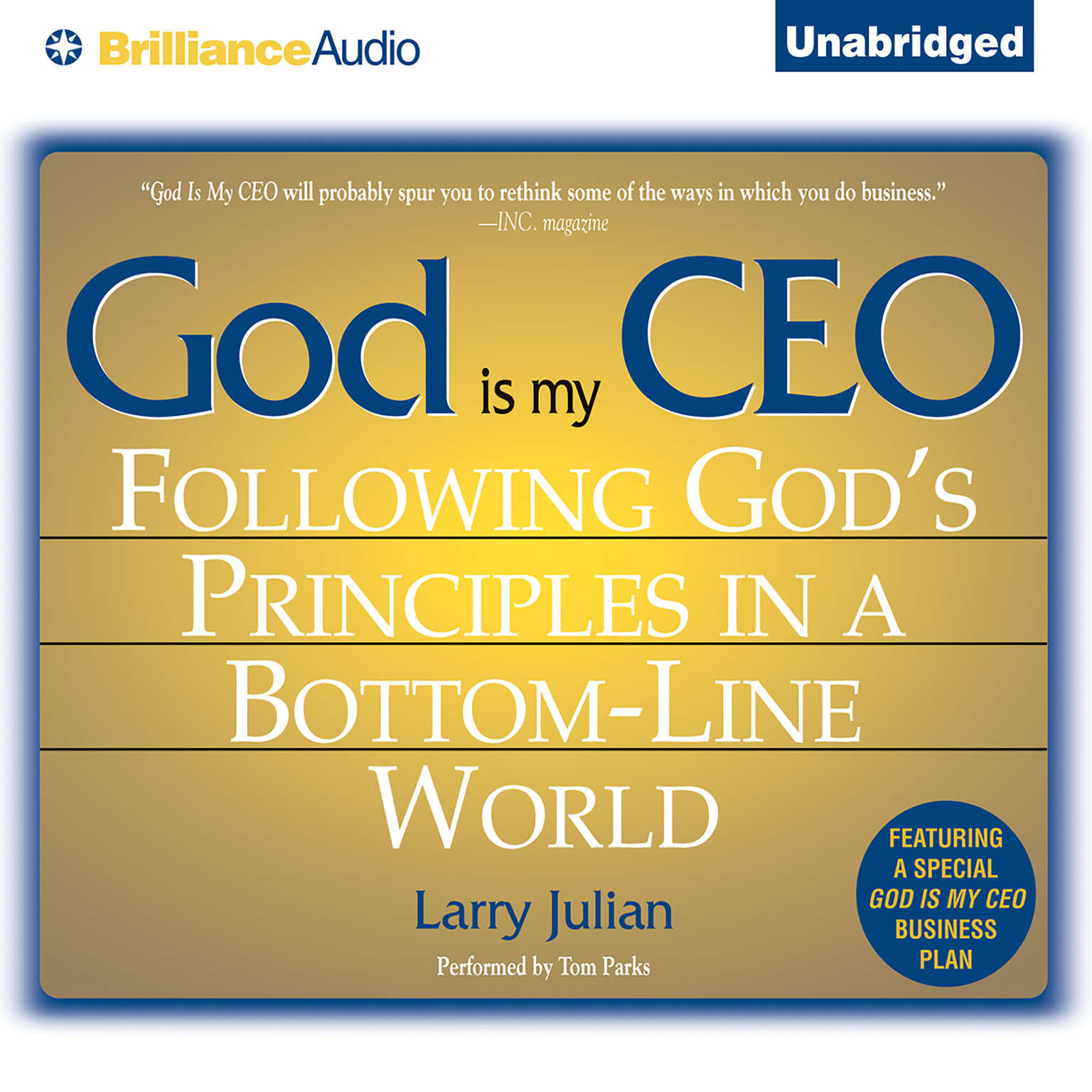 Printable God is My CEO: Following God's Principles in a Bottom-Line World Audiobook Cover Art