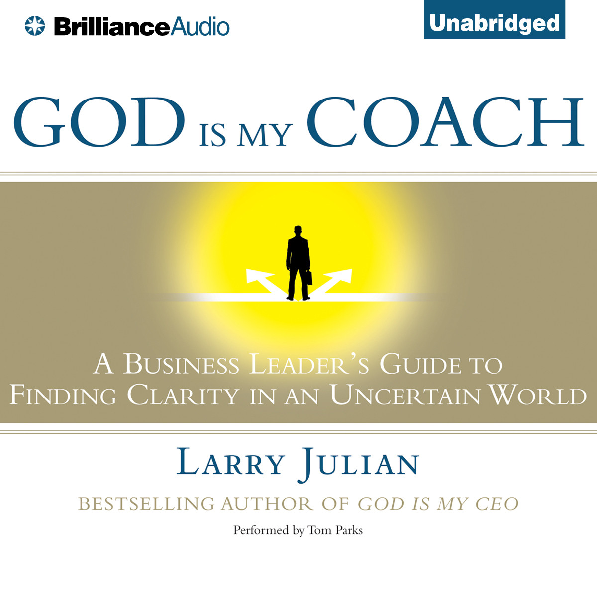 Printable God is My Coach: A Business Leader's Guide to Finding Clarity in an Uncertain World Audiobook Cover Art