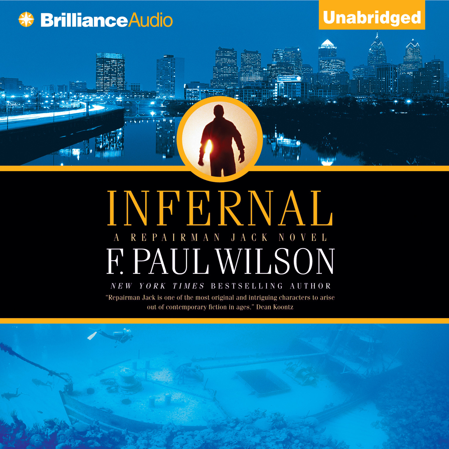 Printable Infernal Audiobook Cover Art