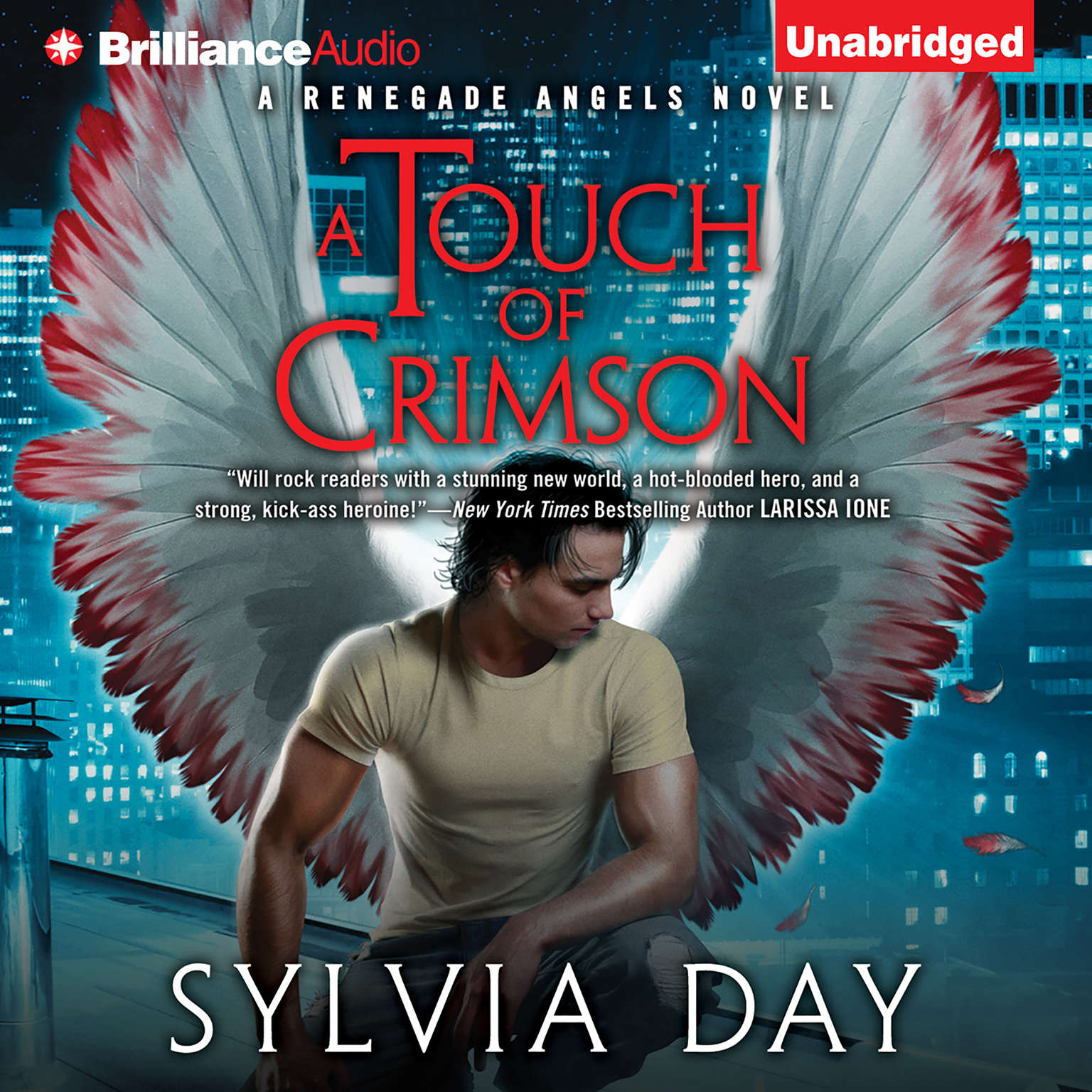 Printable A Touch of Crimson Audiobook Cover Art