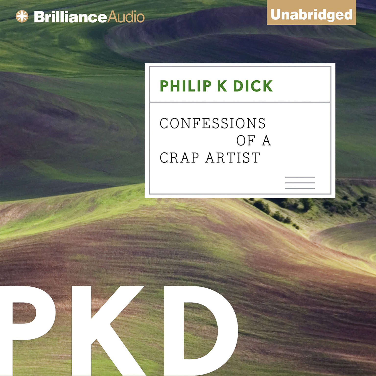 Printable Confessions of a Crap Artist Audiobook Cover Art