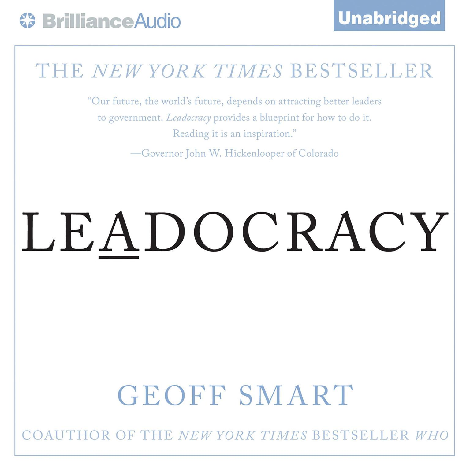 Printable Leadocracy: Hiring More Great Leaders (Like You) Into Government Audiobook Cover Art