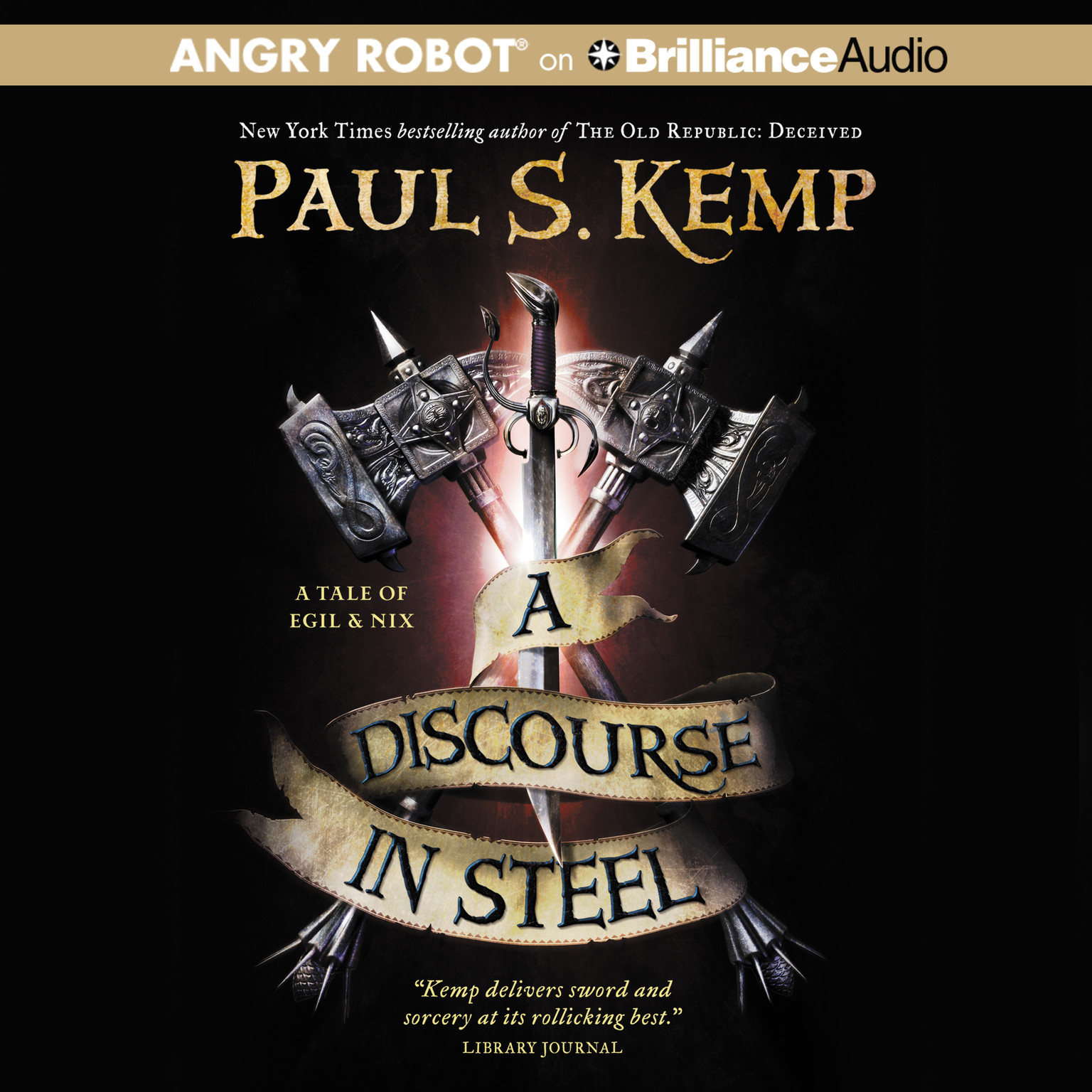 Printable A Discourse in Steel: A Tale of Egil and Nix Audiobook Cover Art