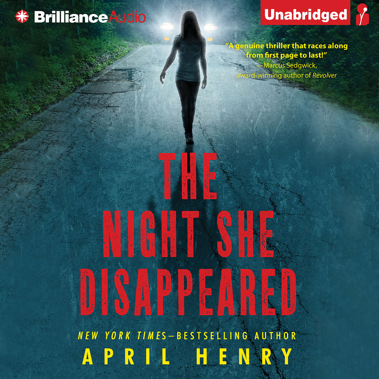 Printable The Night She Disappeared Audiobook Cover Art