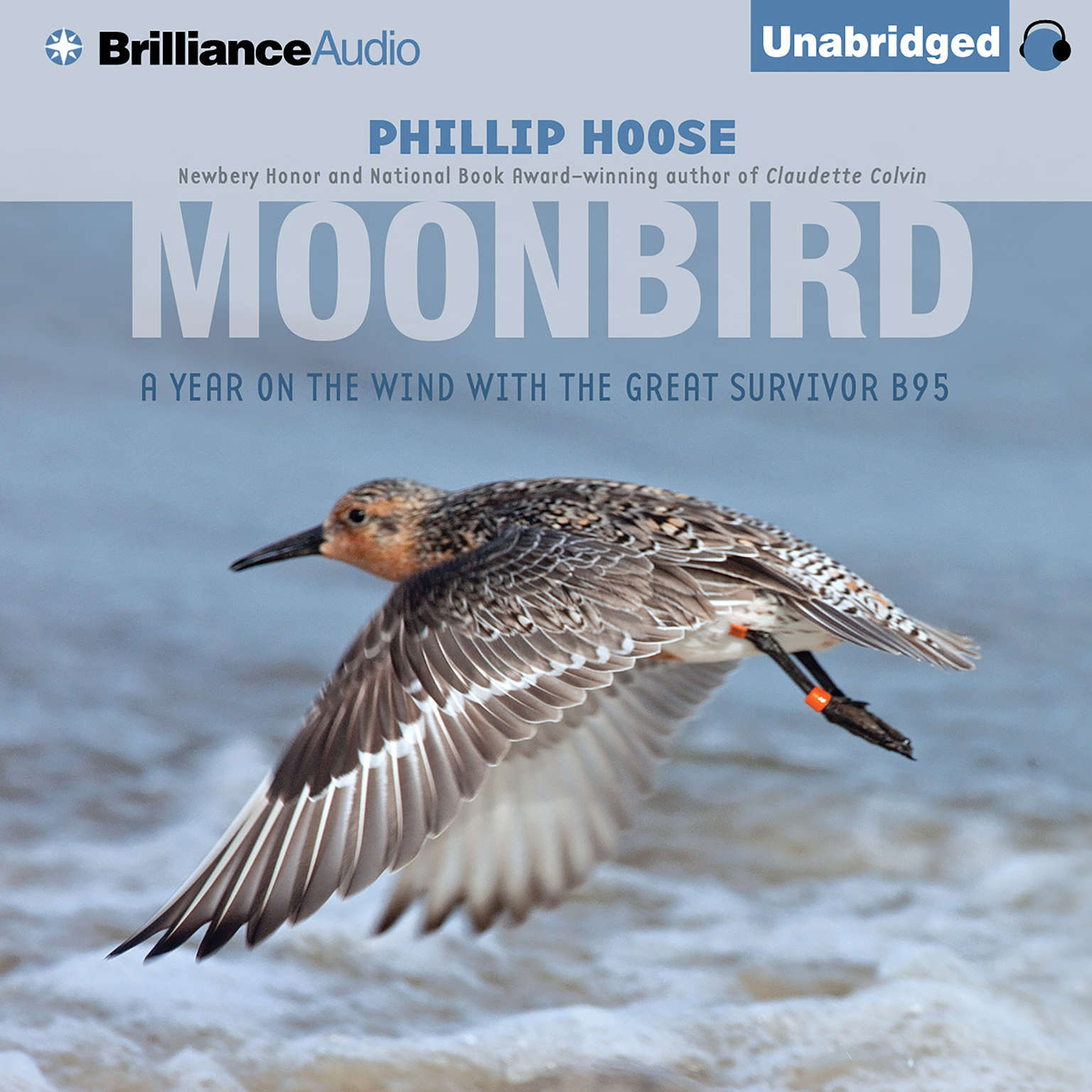 Printable Moonbird: A Year on the Wind with the Great Survivor B95 Audiobook Cover Art
