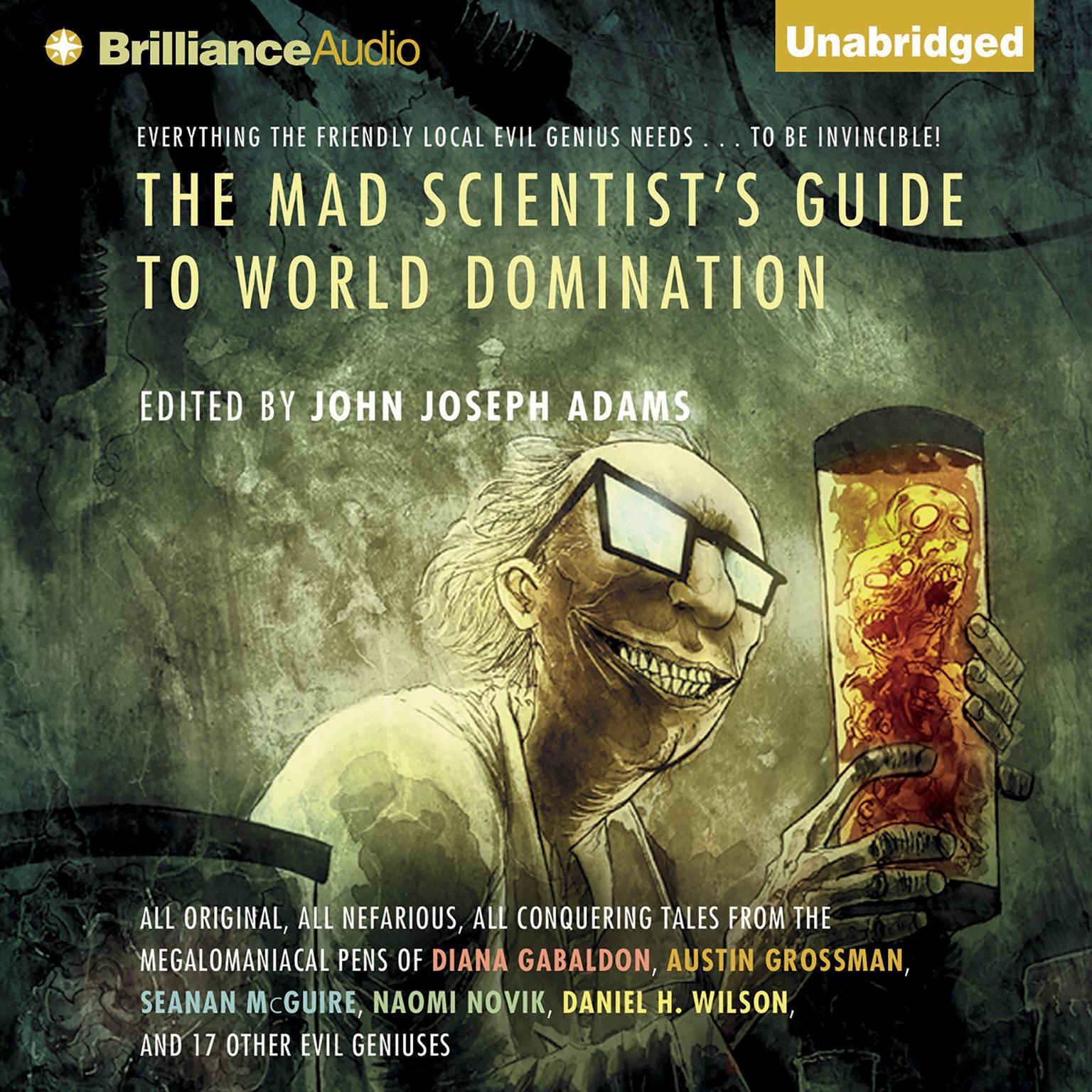 Printable The Mad Scientist's Guide to World Domination: Original Short Fiction for the Modern Evil Genius Audiobook Cover Art