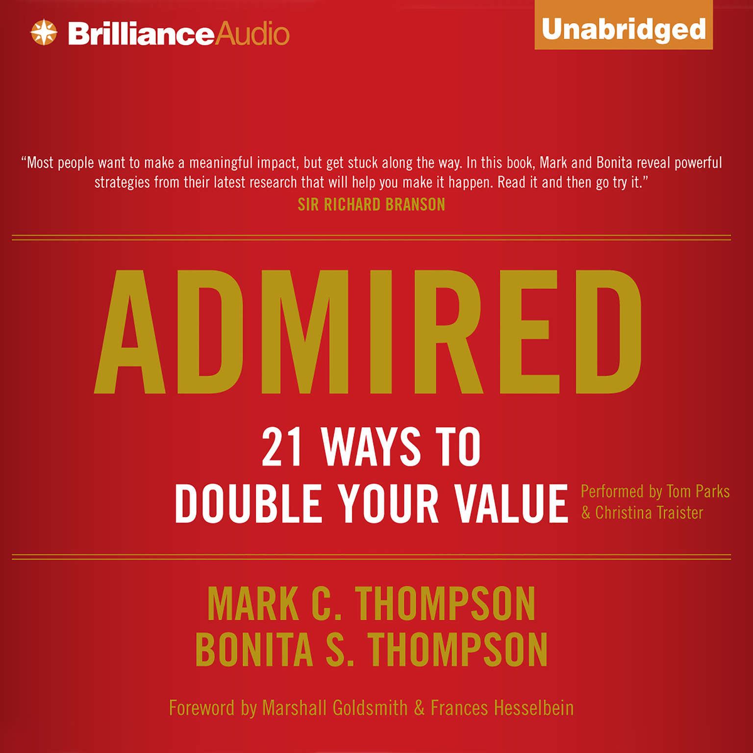 Printable Admired: 21 Ways to Double Your Value Audiobook Cover Art
