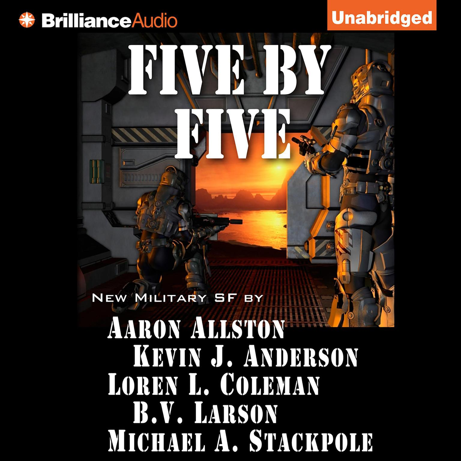 Printable Five by Five Audiobook Cover Art