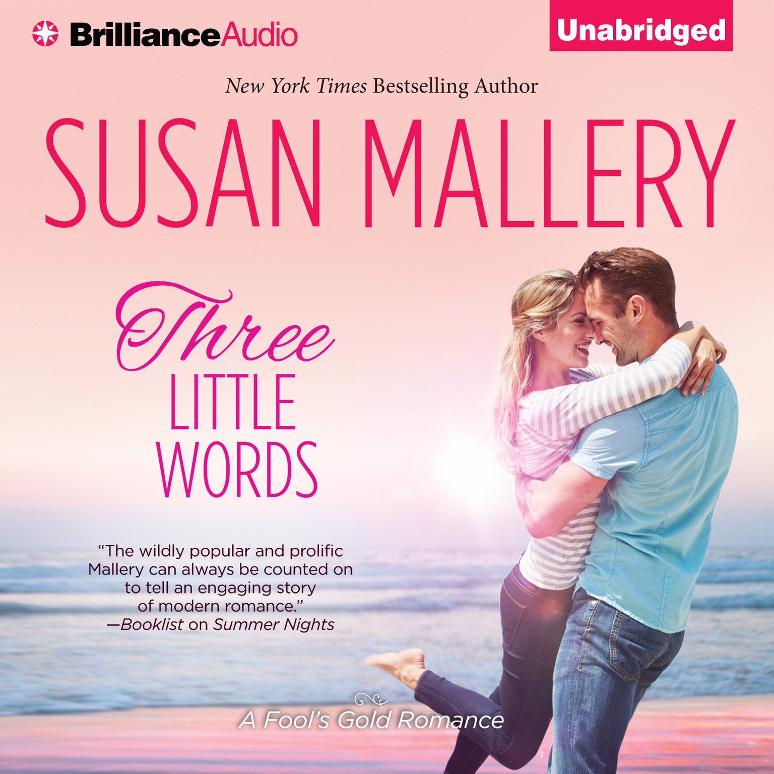 Printable Three Little Words Audiobook Cover Art