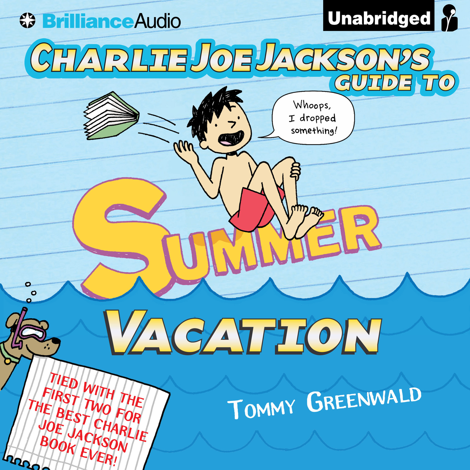 Printable Charlie Joe Jackson's Guide to Summer Vacation Audiobook Cover Art
