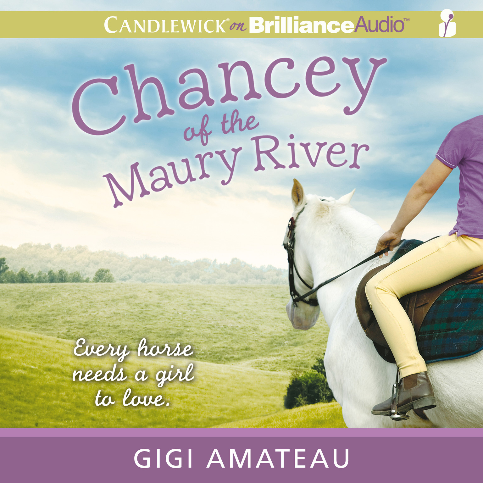 Printable Chancey of the Maury River Audiobook Cover Art