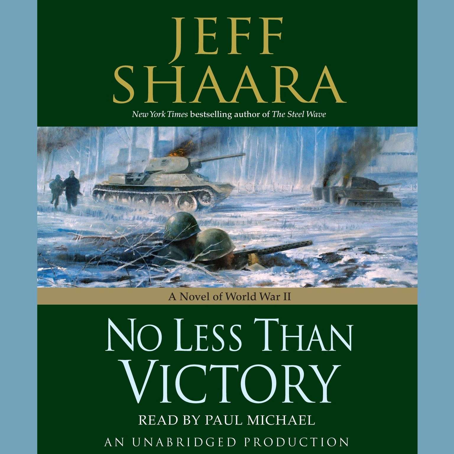 Printable No Less Than Victory: A Novel of WWII Audiobook Cover Art