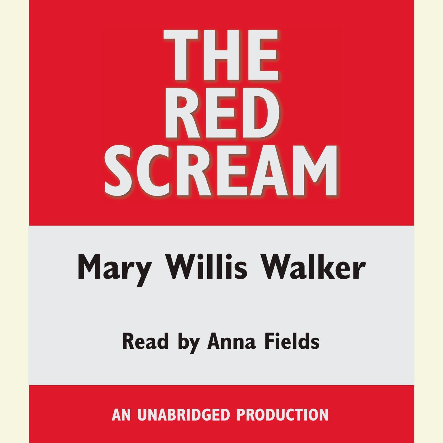 Printable The Red Scream Audiobook Cover Art