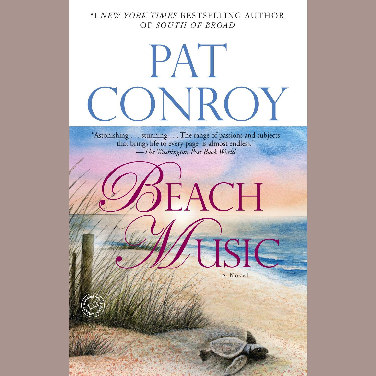 Printable Beach Music: A Novel Audiobook Cover Art