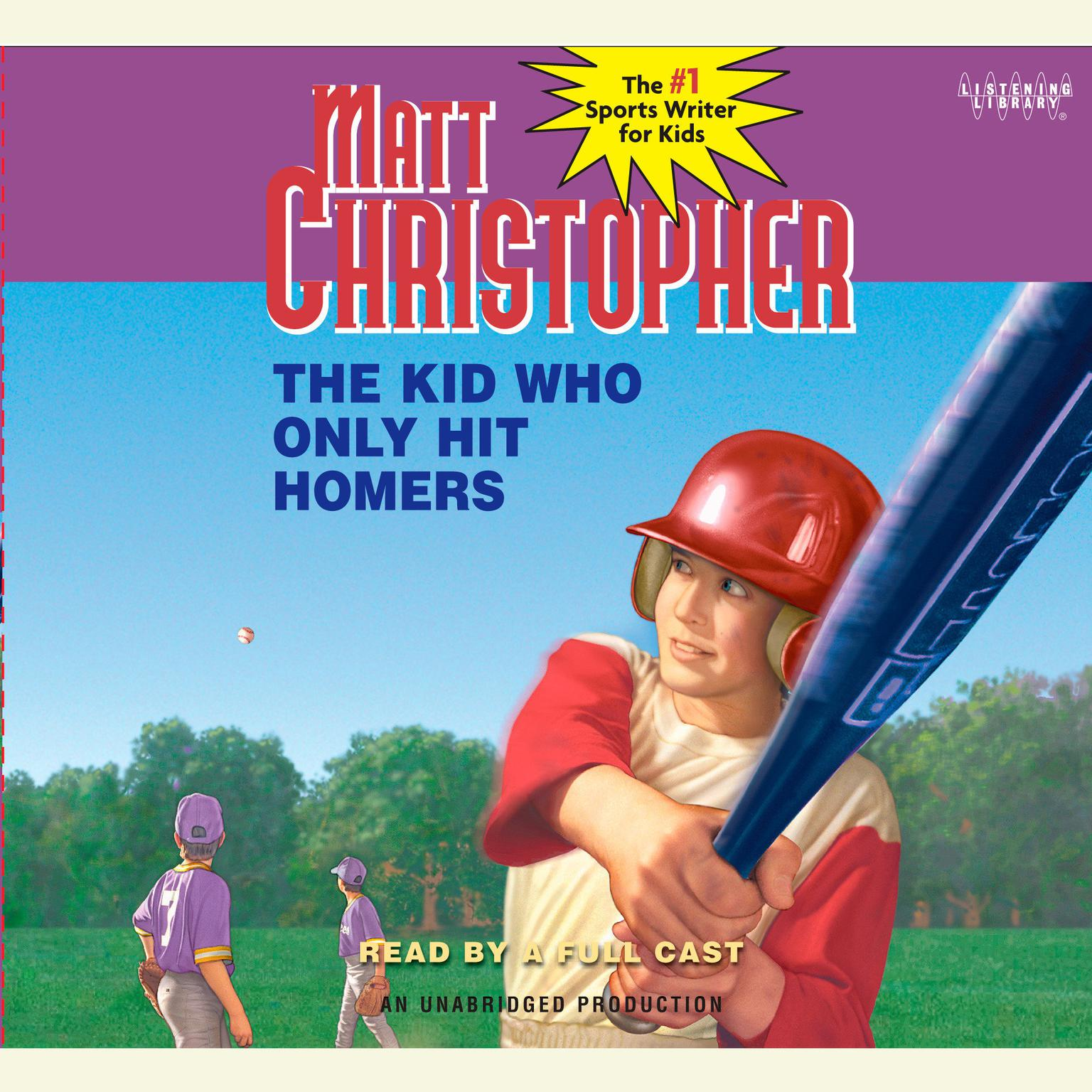 Printable The Kid Who Only Hit Homers Audiobook Cover Art