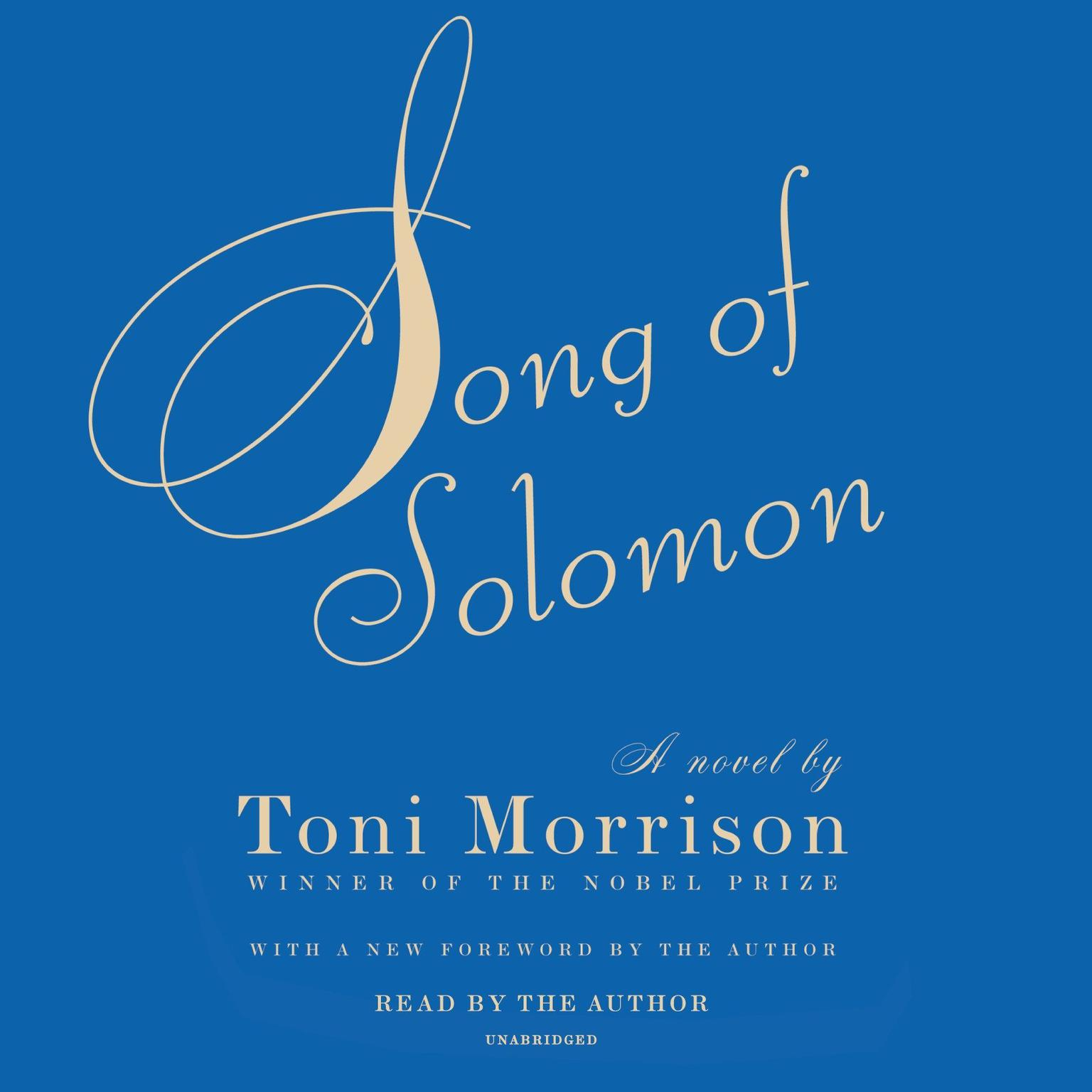 Printable Song of Solomon Audiobook Cover Art