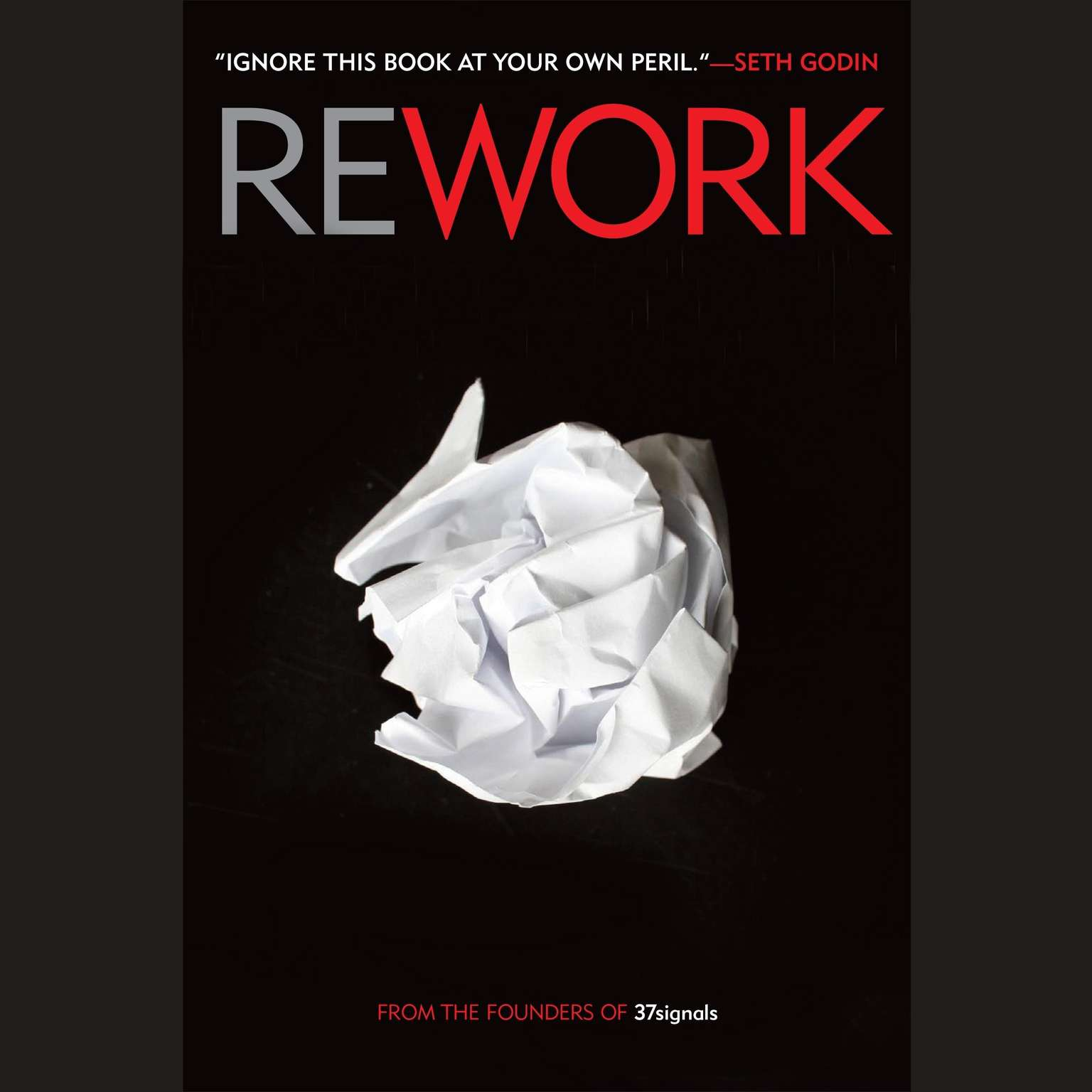Printable Rework Audiobook Cover Art