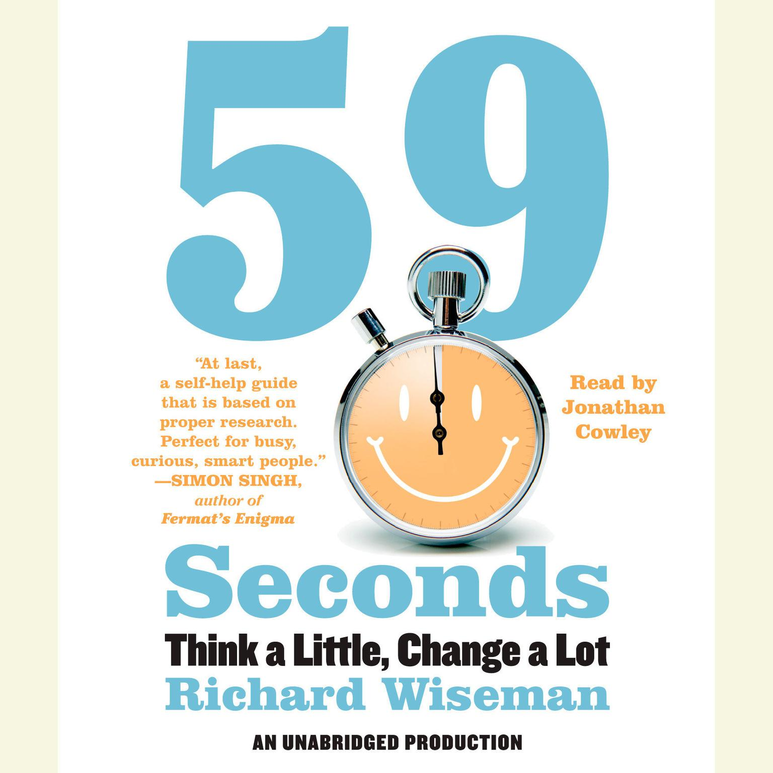 Printable 59 Seconds: Think a Little, Change a Lot Audiobook Cover Art