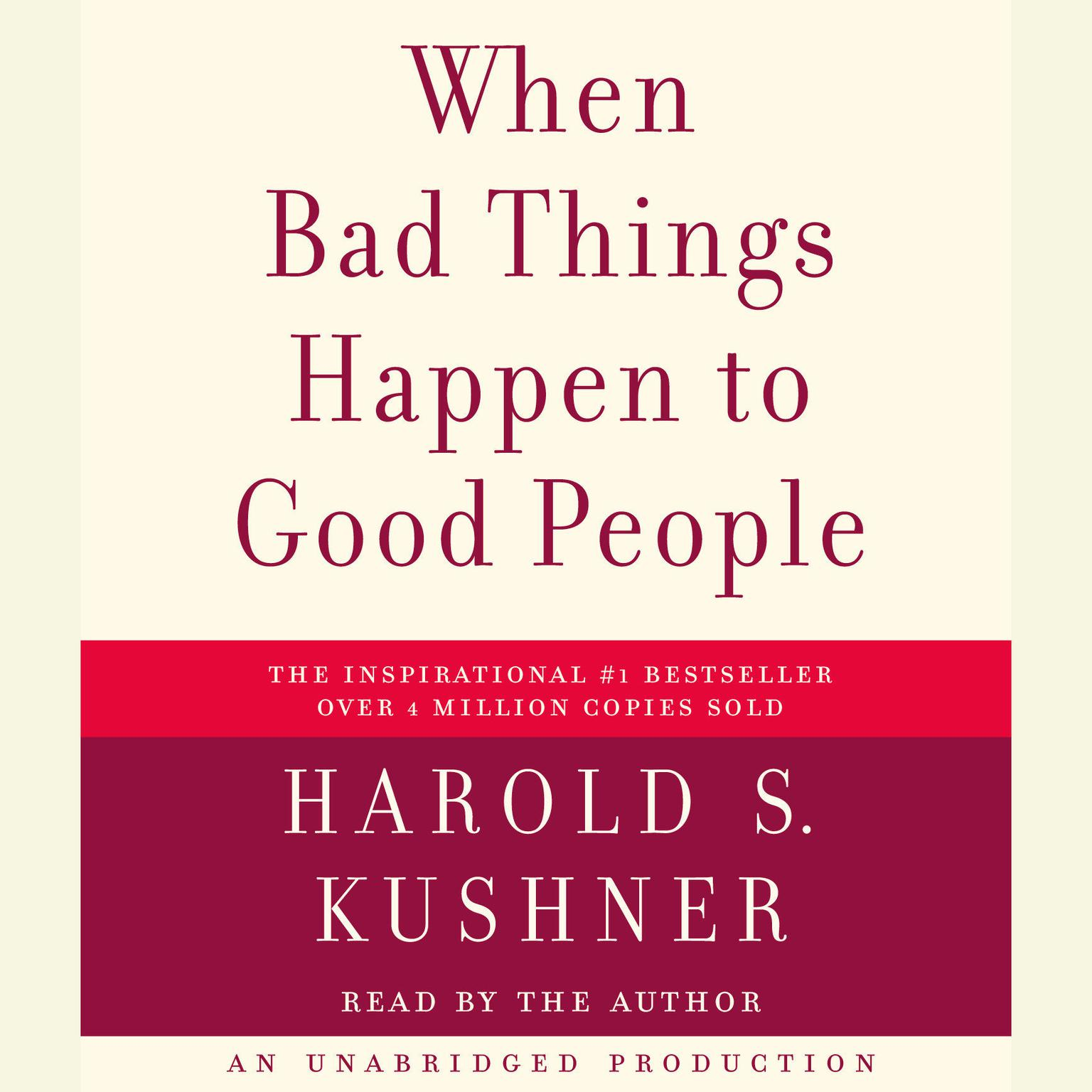 Printable When Bad Things Happen to Good People Audiobook Cover Art