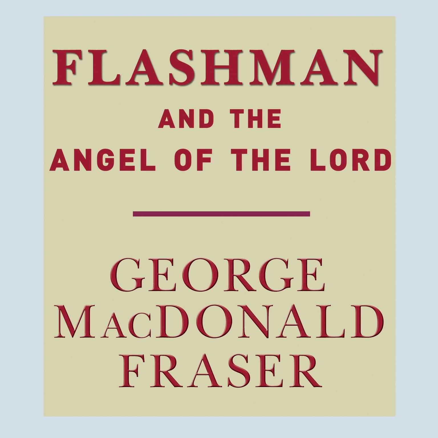 Printable Flashman and the Angel of the Lord Audiobook Cover Art