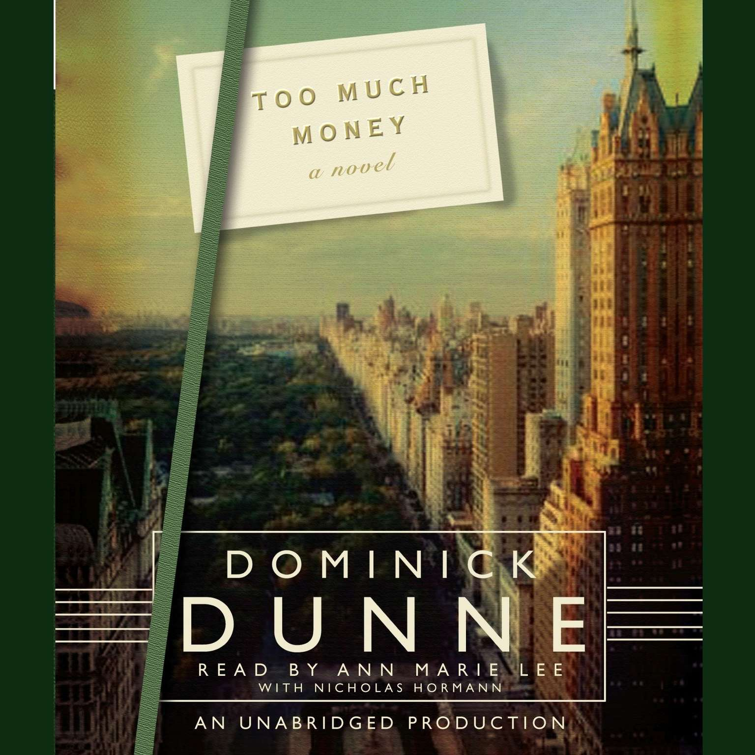 Printable Too Much Money: A Novel Audiobook Cover Art