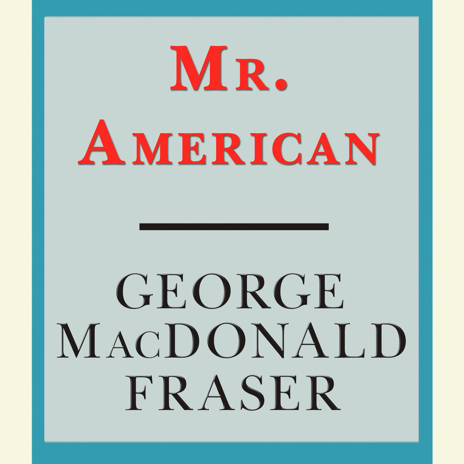 Printable Mr. American Audiobook Cover Art