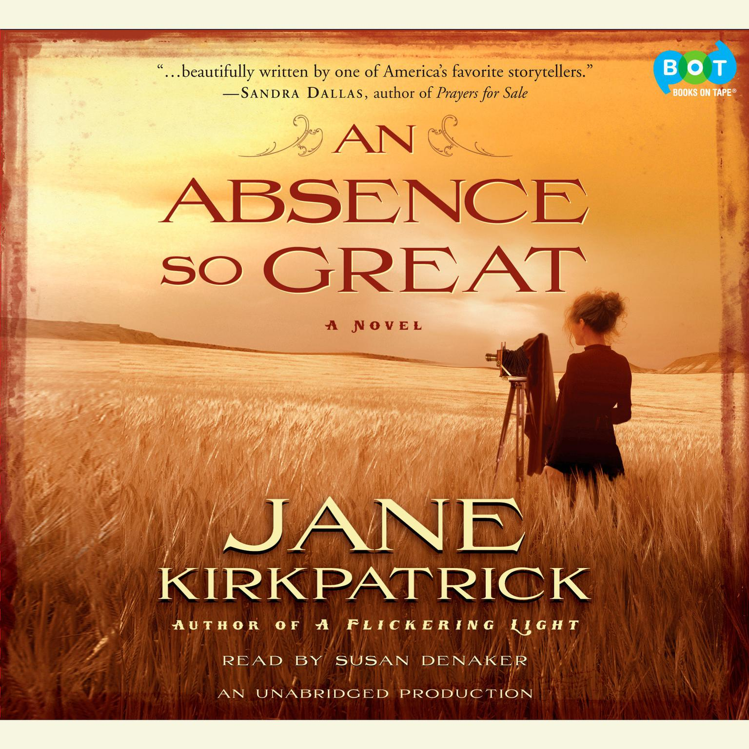 Printable An Absence So Great Audiobook Cover Art