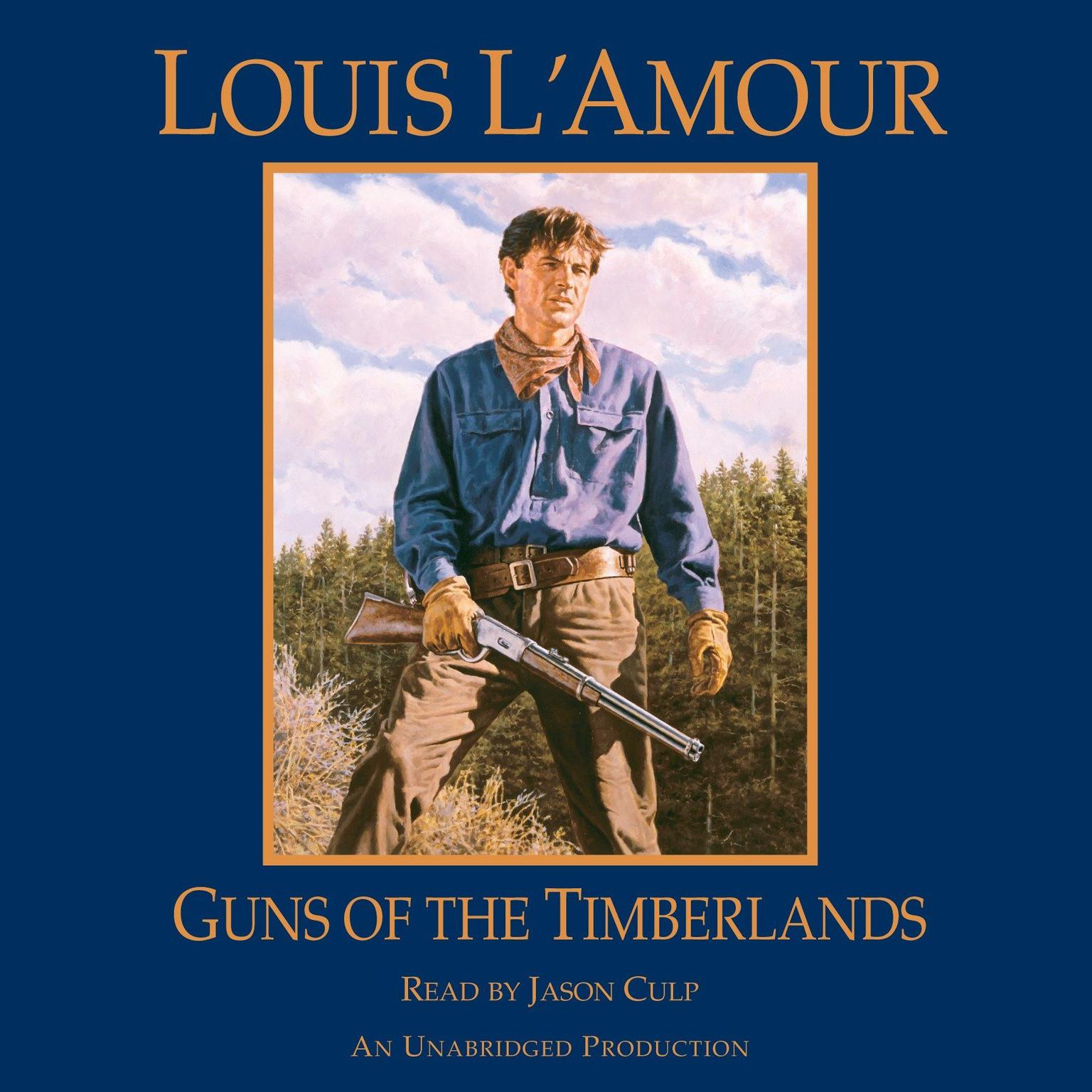 Printable Guns of the Timberlands Audiobook Cover Art