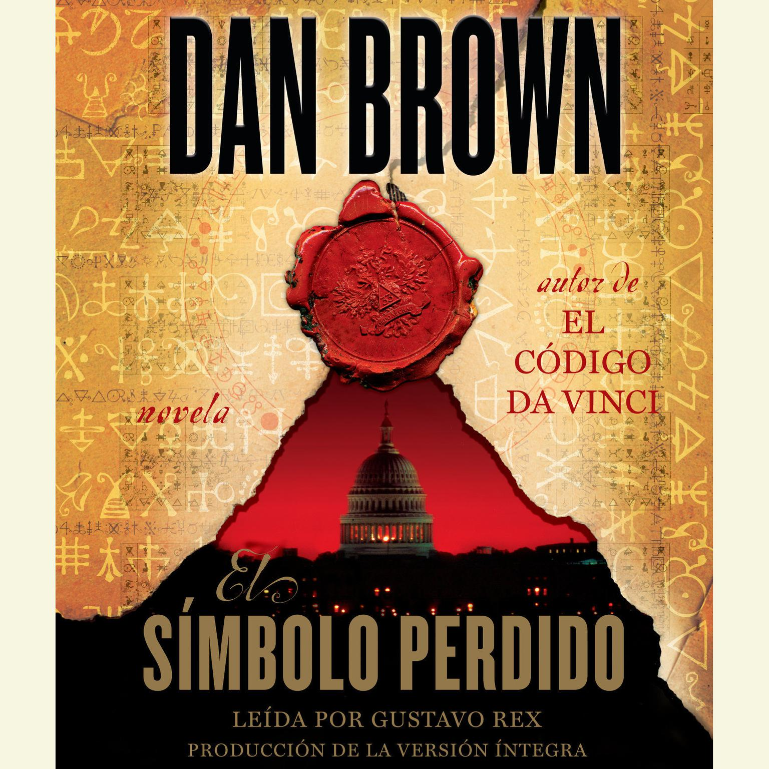 Printable El simbolo perdido Audiobook Cover Art