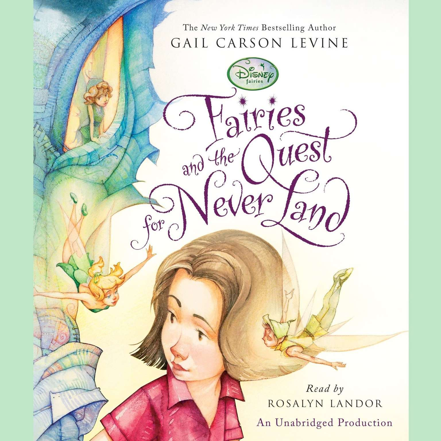 Printable Fairies and the Quest for Never Land Audiobook Cover Art