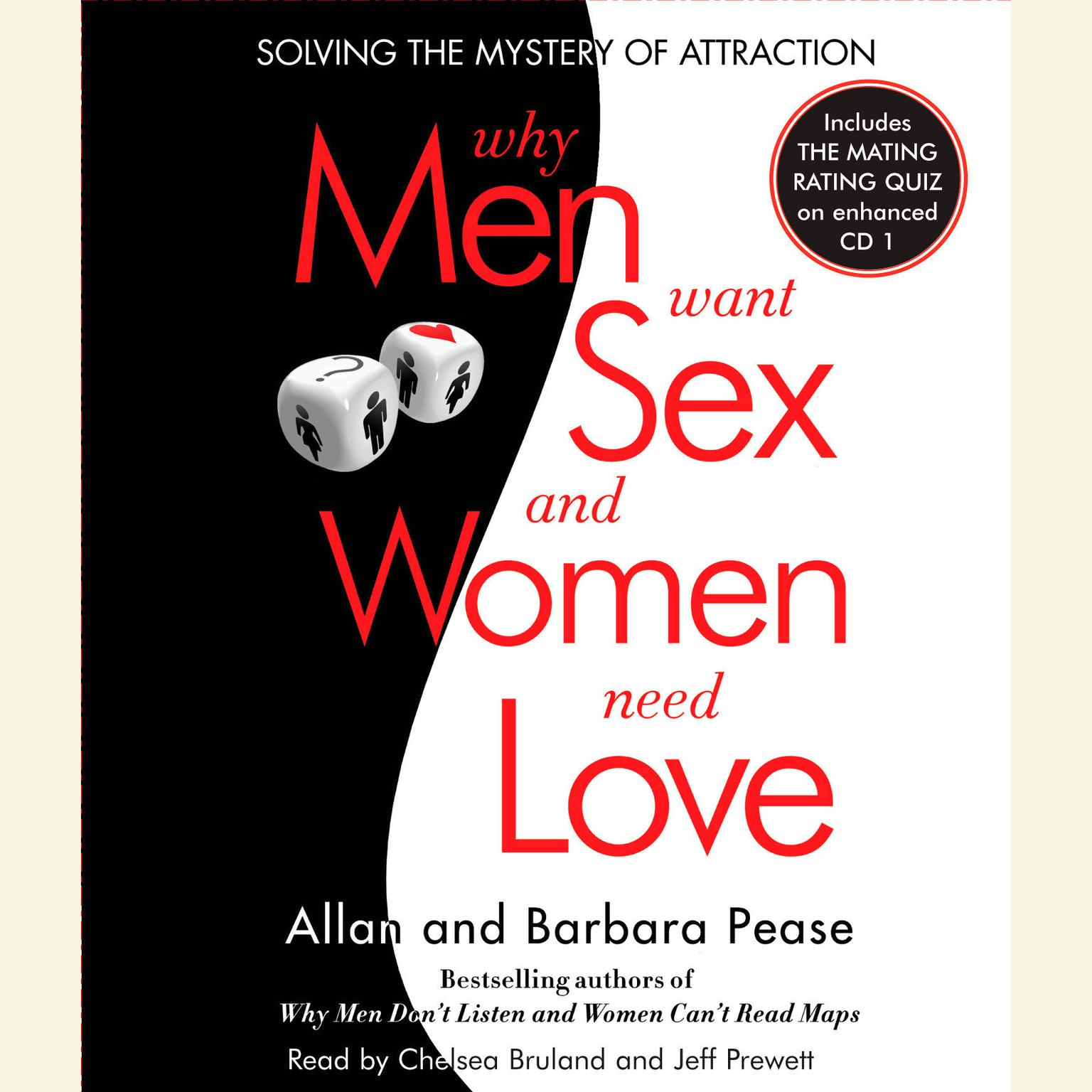 Printable Why Men Want Sex and Women Need Love: Solving the Mystery of Attraction Audiobook Cover Art