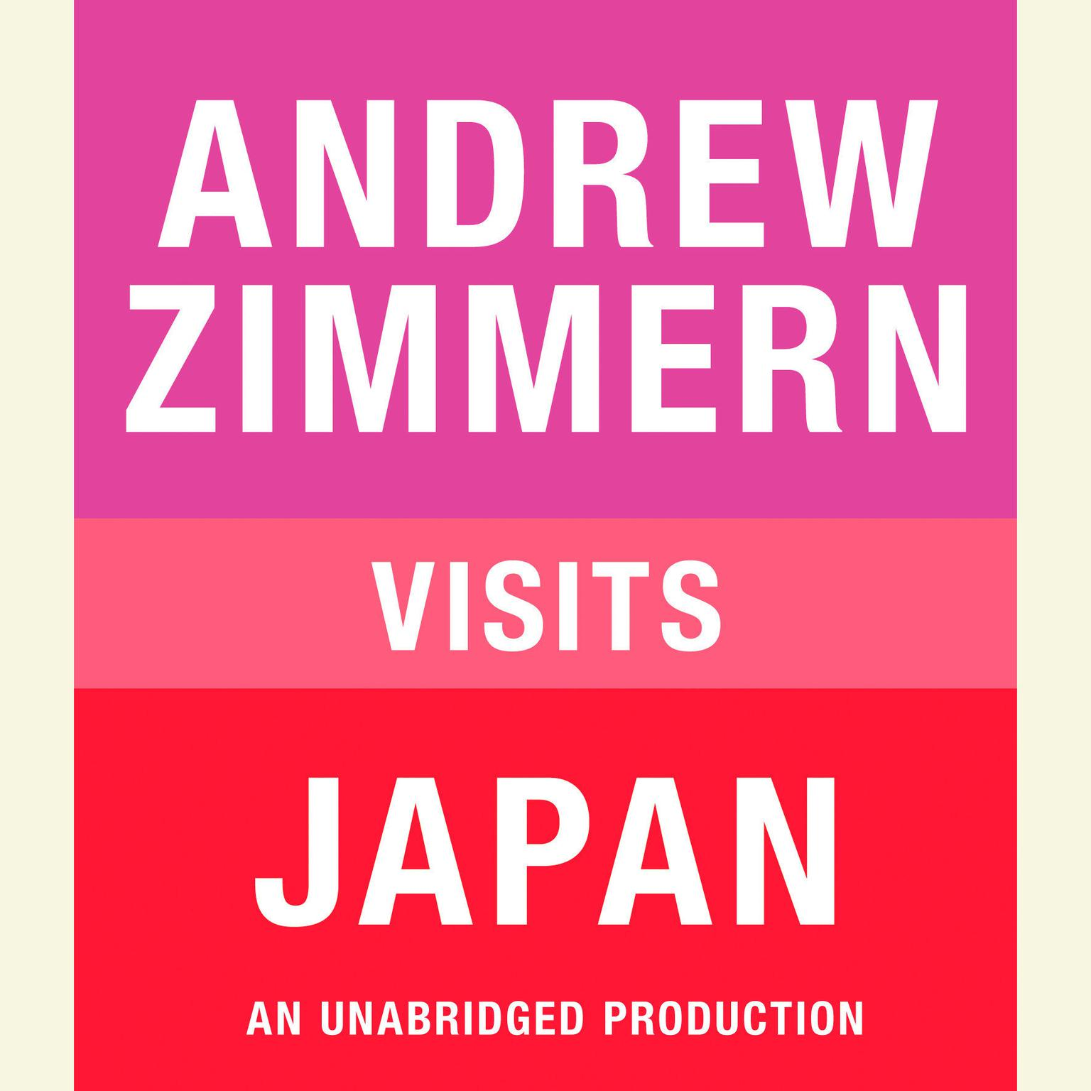 Printable Andrew Zimmern Visits Japan Audiobook Cover Art