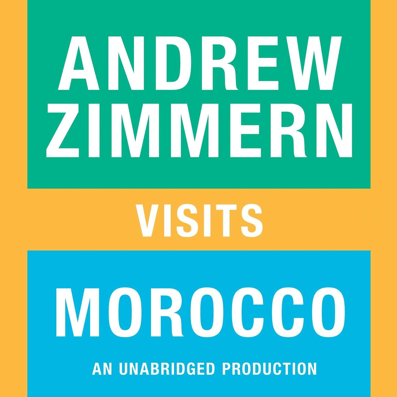 Printable Andrew Zimmern Visits Morocco Audiobook Cover Art