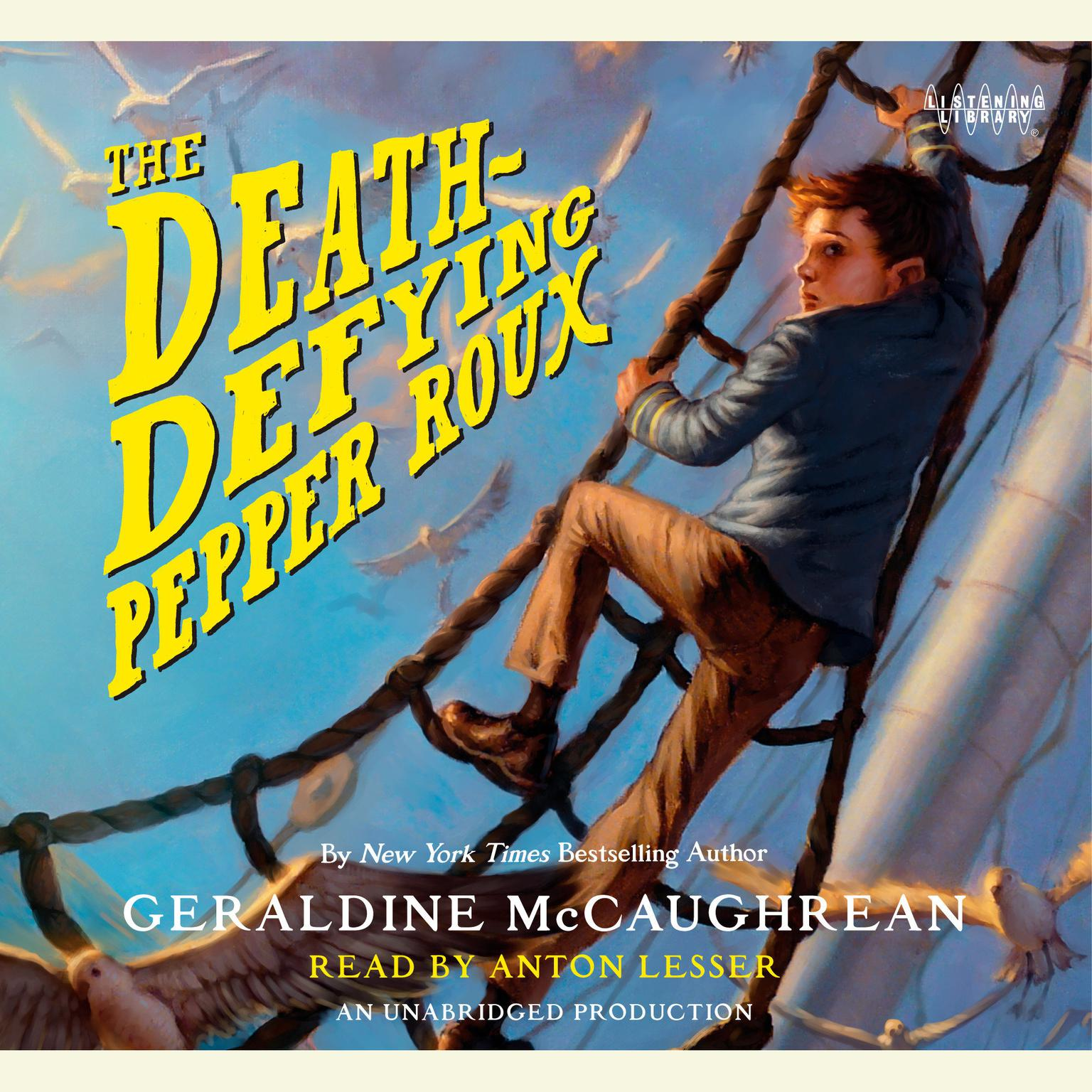 Printable The Death-Defying Pepper Roux Audiobook Cover Art