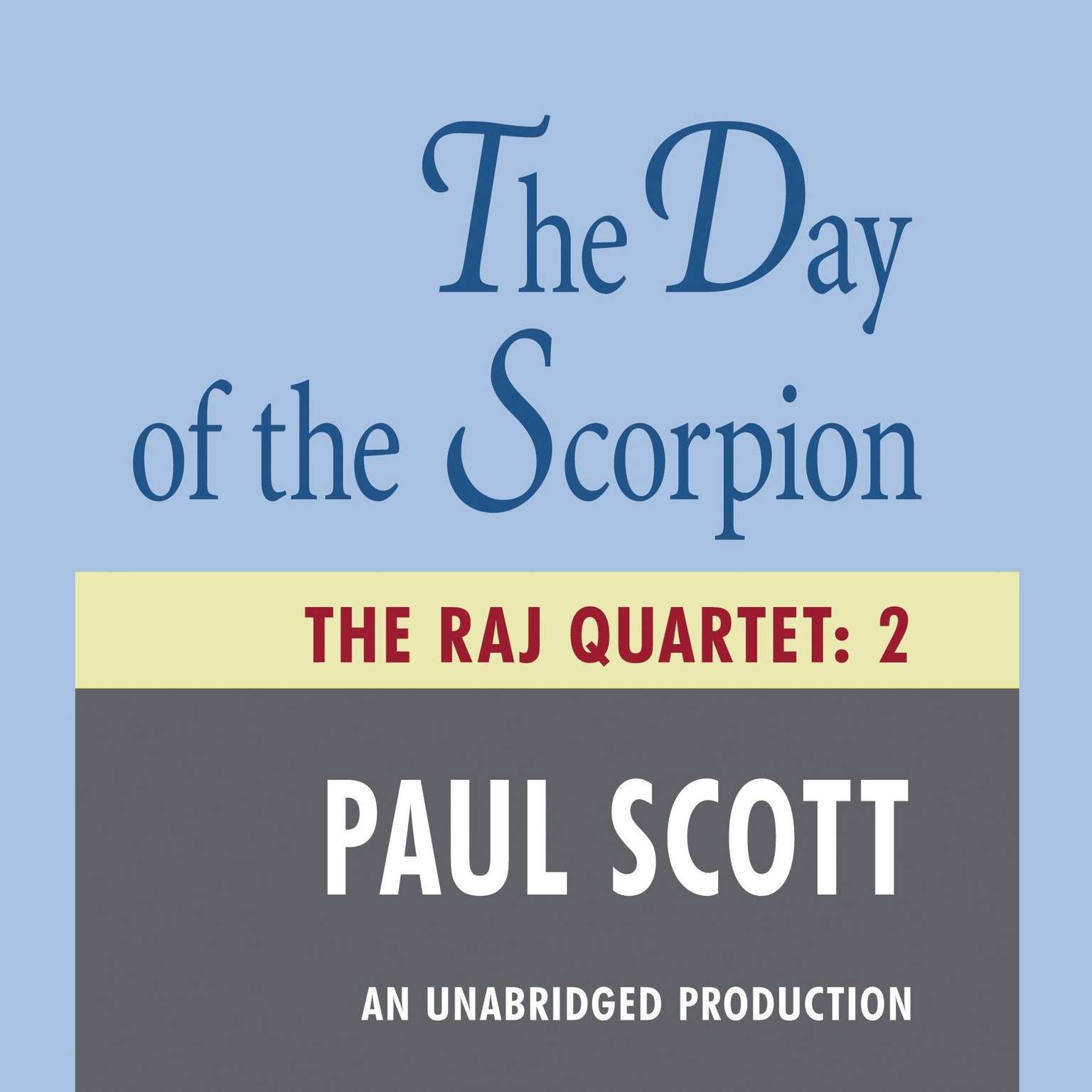Printable The Day of the Scorpion Audiobook Cover Art