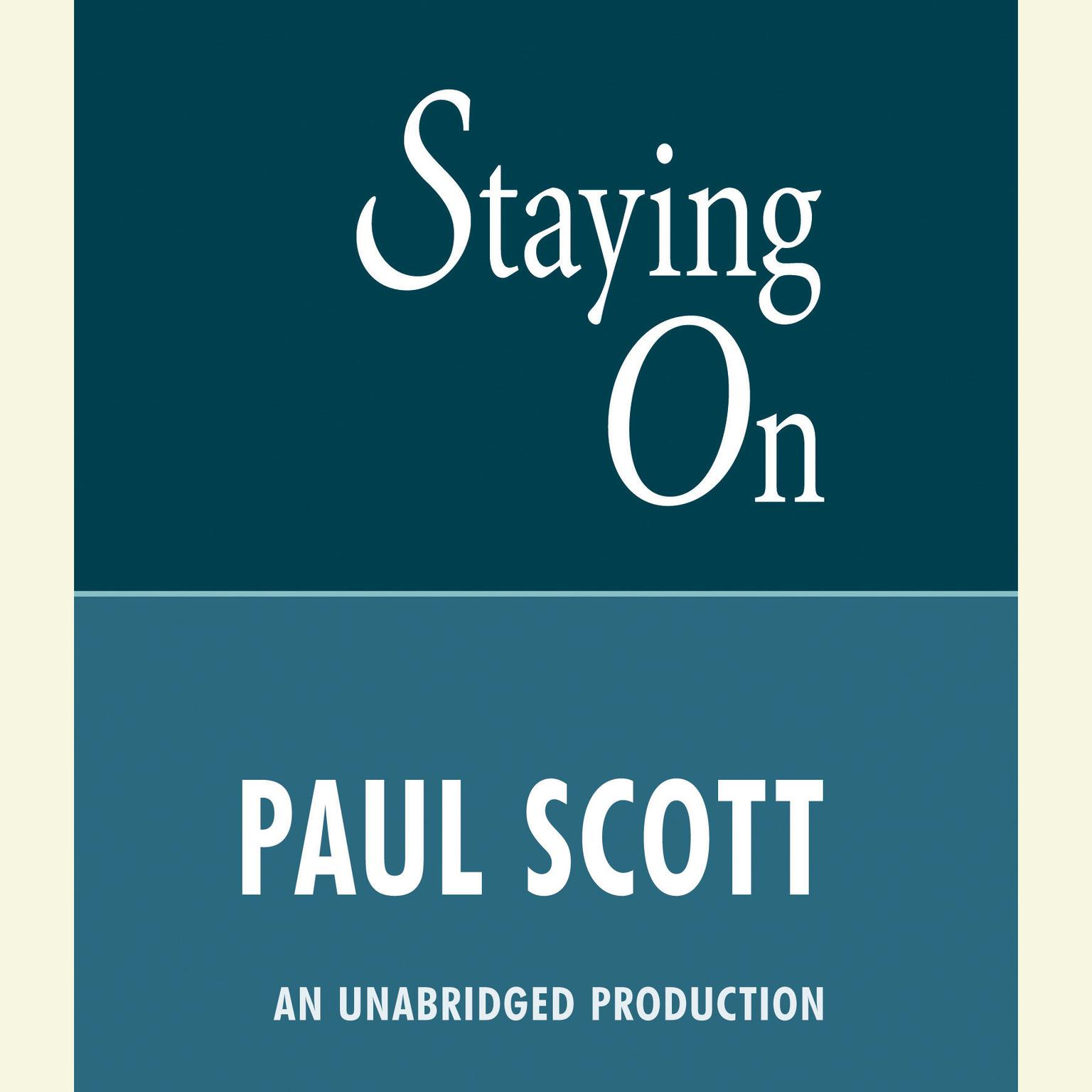 Printable Staying On Audiobook Cover Art