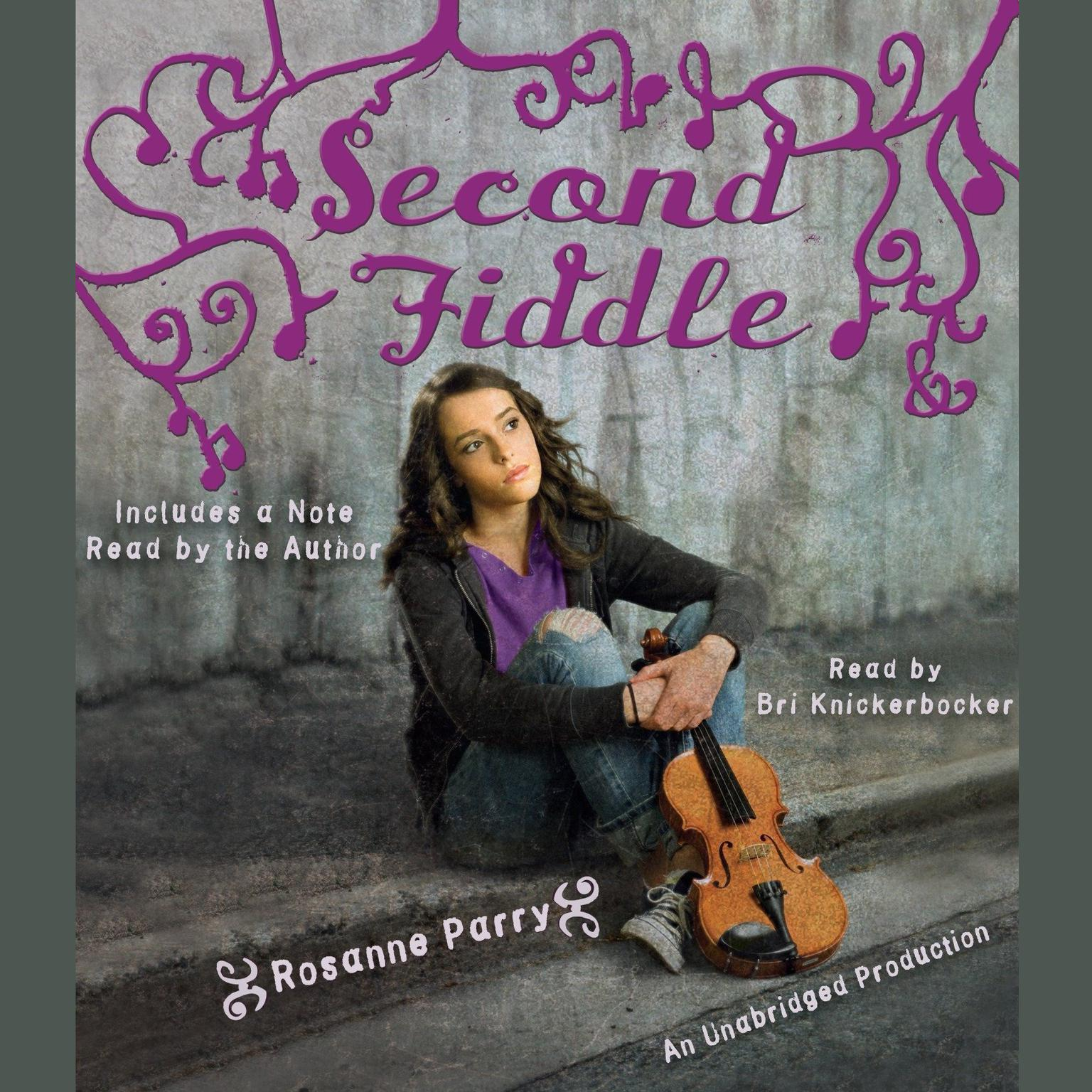 Printable Second Fiddle Audiobook Cover Art