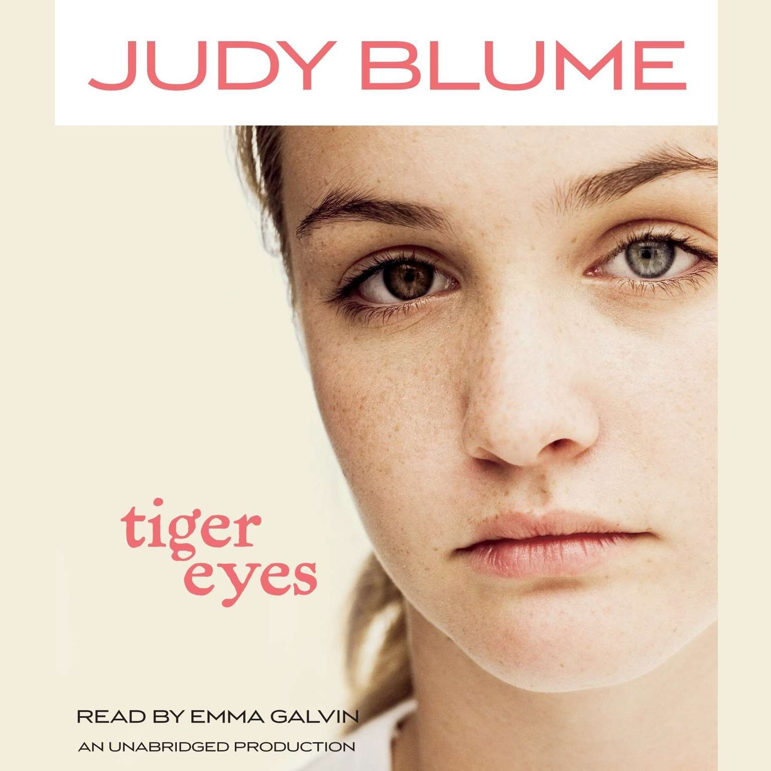 Printable Tiger Eyes Audiobook Cover Art