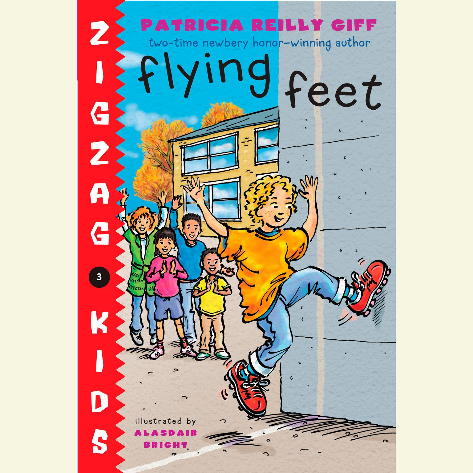 Printable Flying Feet: Zigzag Kids Book 3 Audiobook Cover Art