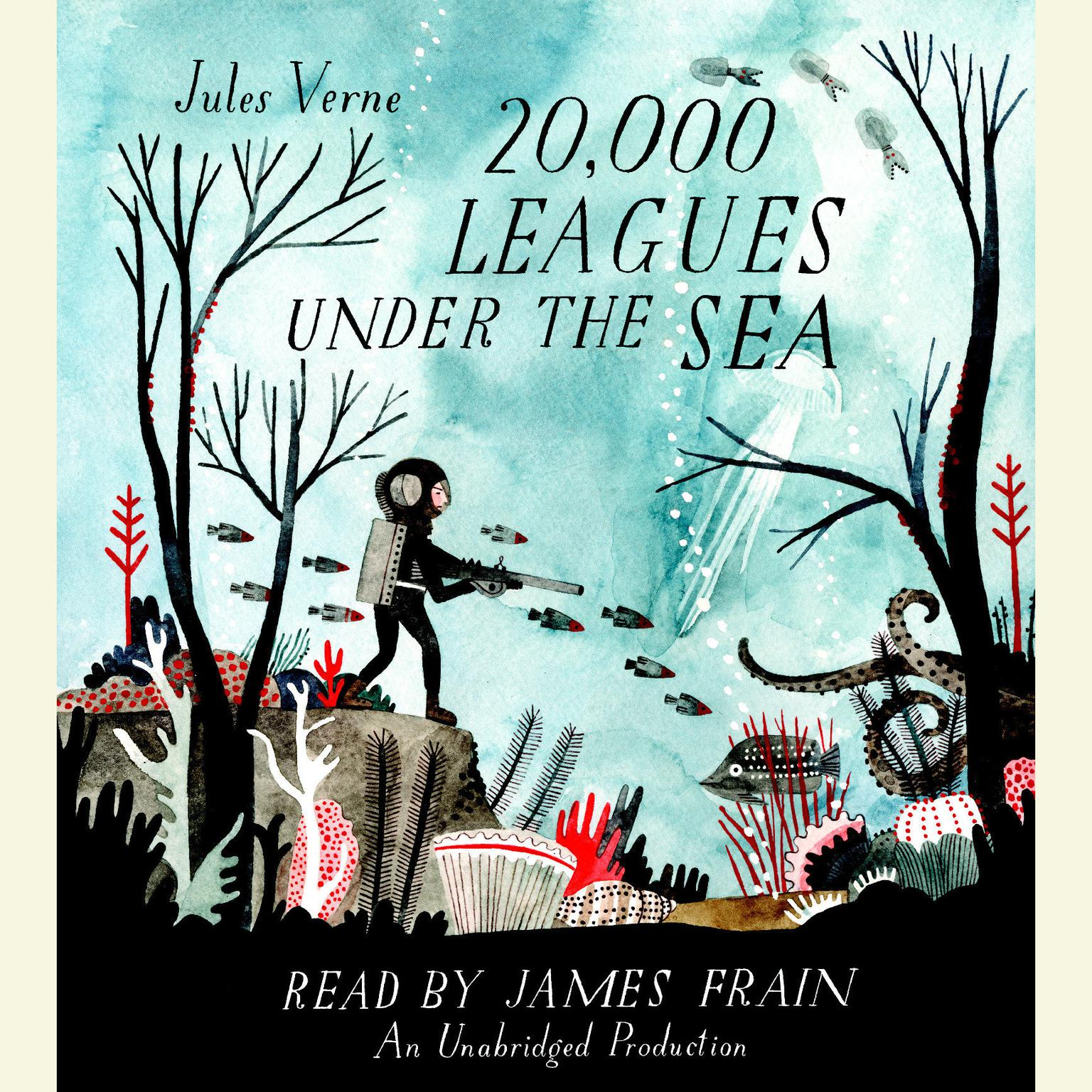 Printable 20,000 Leagues Under the Sea Audiobook Cover Art