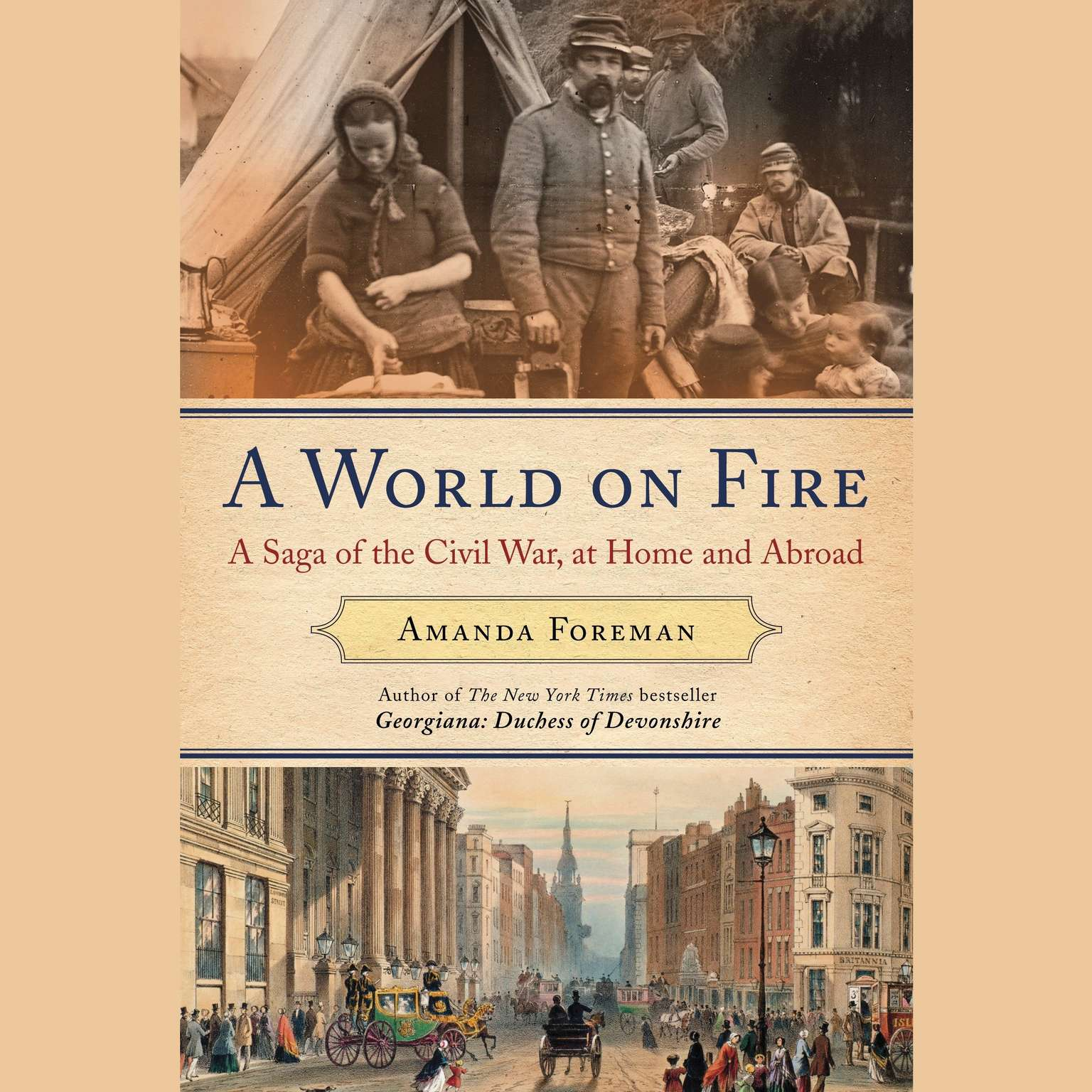 Printable A World on Fire: Britain's Crucial Role in the American Civil War Audiobook Cover Art