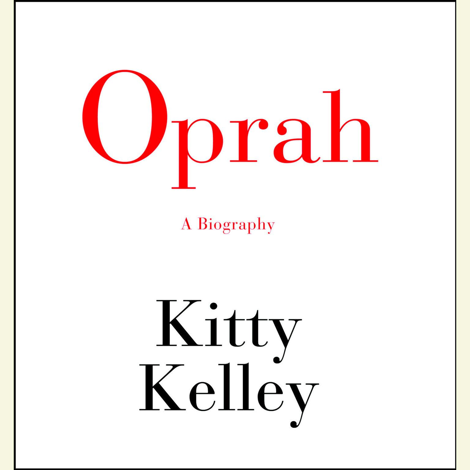 Printable Oprah: A Biography Audiobook Cover Art