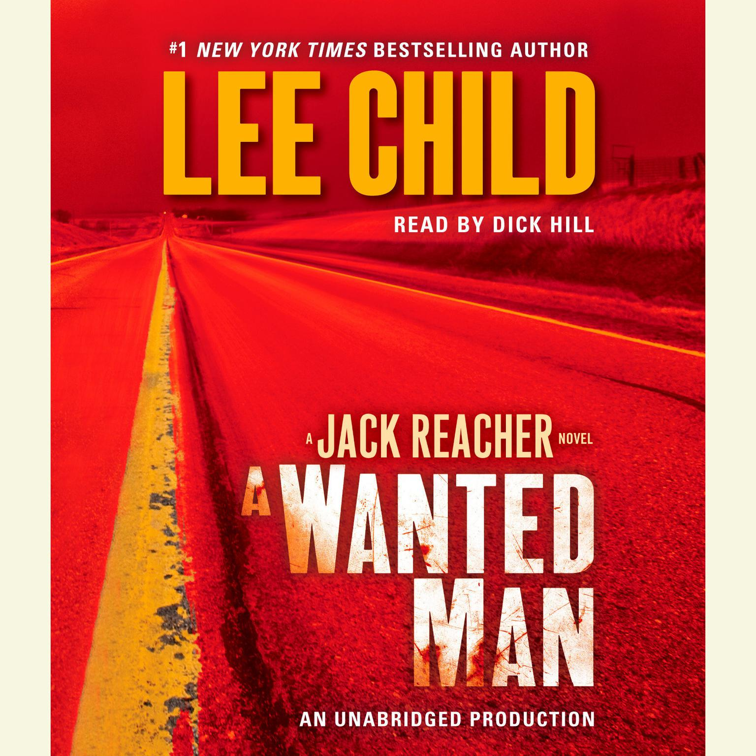 Printable A Wanted Man: A Jack Reacher Novel Audiobook Cover Art