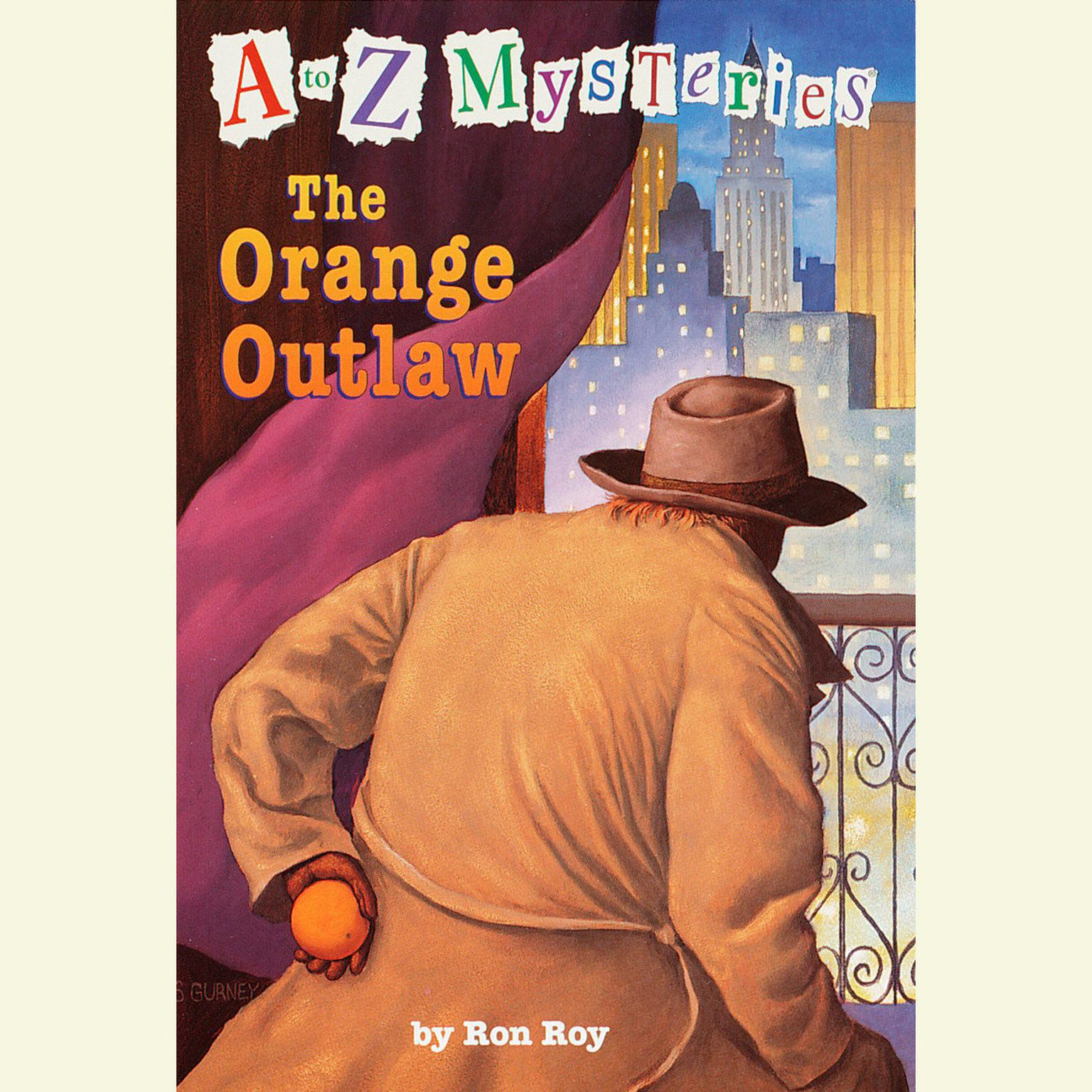 Printable A to Z Mysteries: The Orange Outlaw Audiobook Cover Art