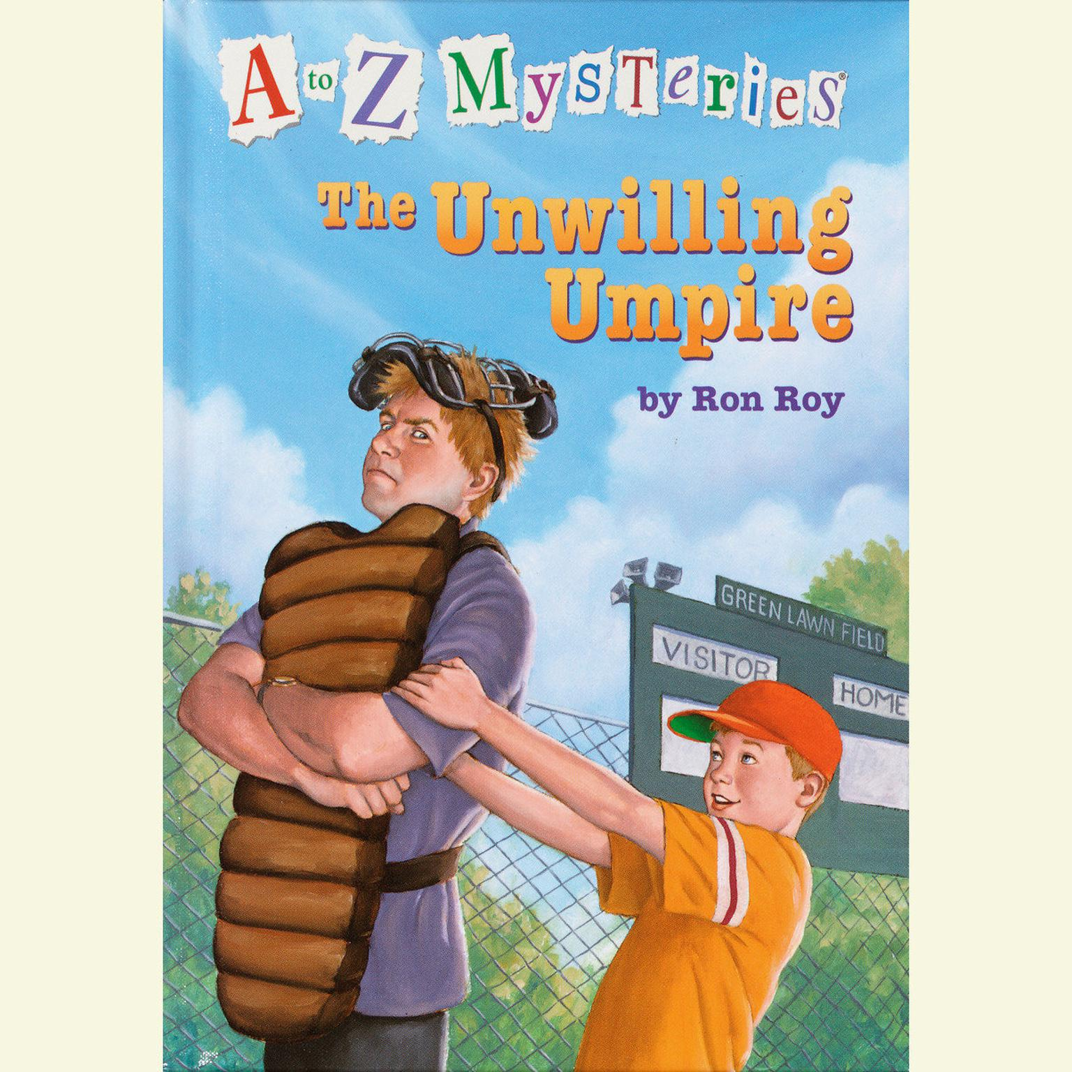 Printable A to Z Mysteries: The Unwilling Umpire Audiobook Cover Art