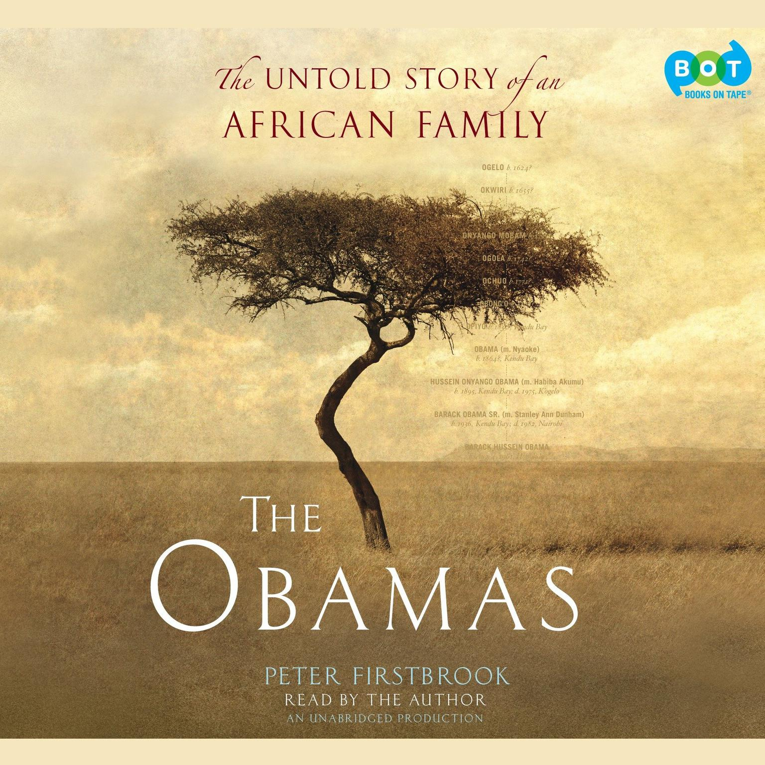 Printable The Obamas: The Untold Story of an African Family Audiobook Cover Art