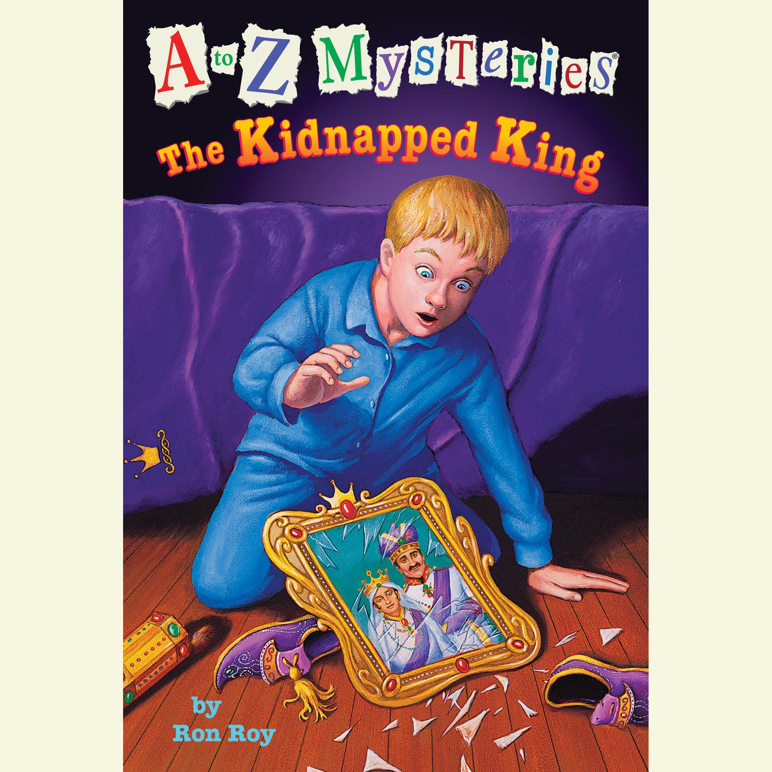Printable A to Z Mysteries: The Kidnapped King Audiobook Cover Art