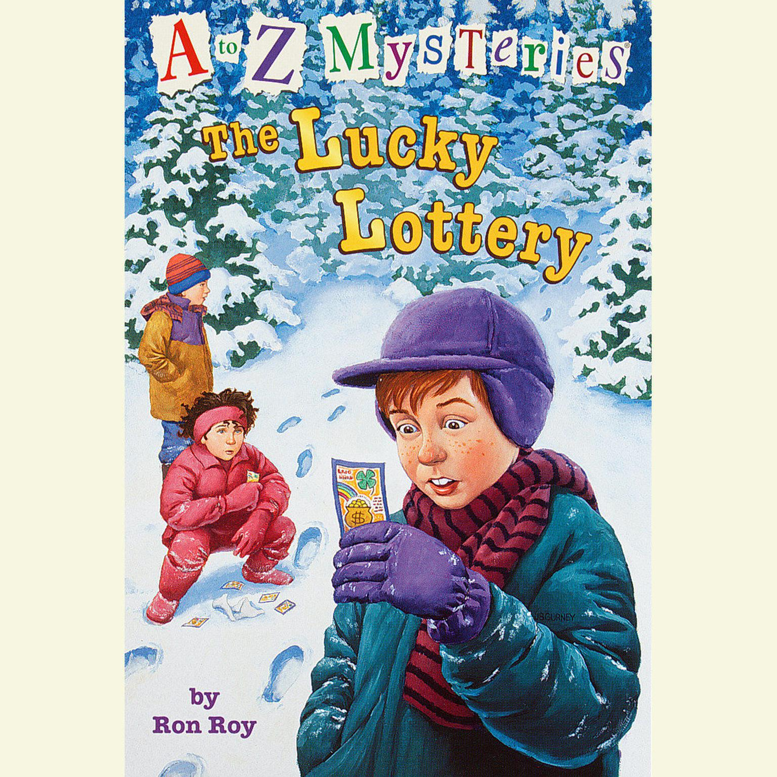 Printable A to Z Mysteries: The Lucky Lottery Audiobook Cover Art