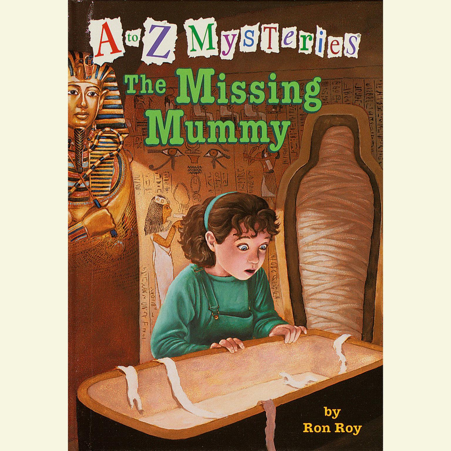 Printable A to Z Mysteries: The Missing Mummy Audiobook Cover Art